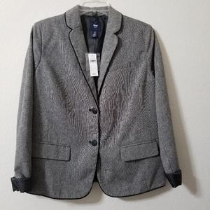 Gap Tweed Lined Jacket 2 Button Size 8 NWT